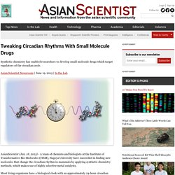 Tweaking Circadian Rhythms With Small Molecule Drugs