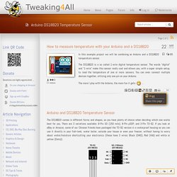 Tweaking4All.com - How to measure temperature with your Arduino and a DS18B20