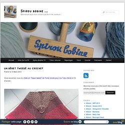 un béret tweedé au crochet - Spirou bobine ...