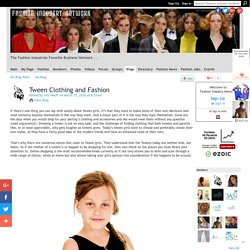 Tween Clothing and Fashion