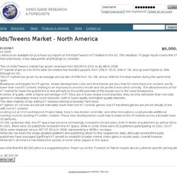 Kids/Tweens Market - North America | IDG
