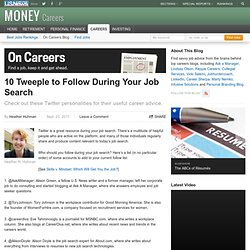 10 Tweeple to Follow During Your Job Search
