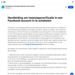 Handleiding om tweestapsverificatie in een Facebook-account in te schakelen