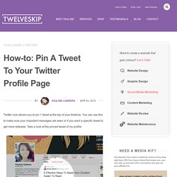 How-to: Pin A Tweet To Your Twitter Profile Page