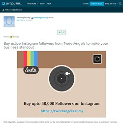 Buy Active Instagram followers - TweetAngels