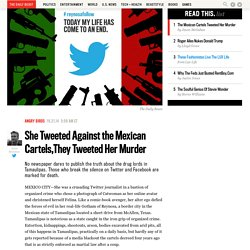 She Tweeted Against the Mexican Cartels. They Tweeted Her Murder.