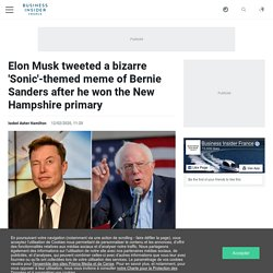 Elon Musk tweeted a bizarre 'Sonic'-themed meme of Bernie Sanders after he won the New Hampshire primary
