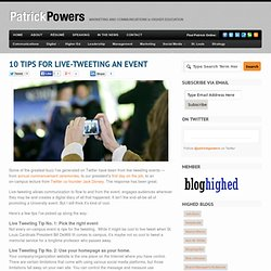 10 tips for live-tweeting an event