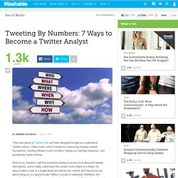 Tweeting By Numbers: 7 Ways to Become a Twitter Analyst