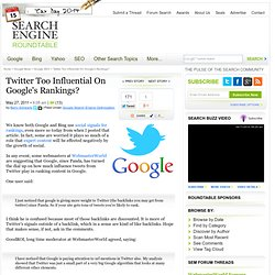 Tweets Influencing Google's Ranking More?