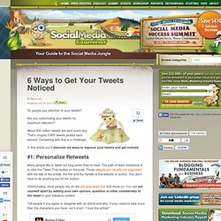 6 Ways to Get Your Tweets Noticed