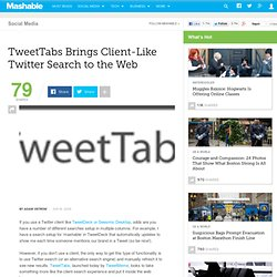 TweetTabs Brings Client-Like Twitter Search to the Web