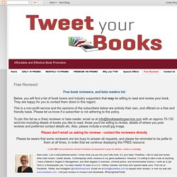 TweetYourBooks: Free Reviews!
