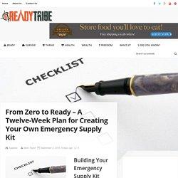 Twelve Week Plan for Creating An Emergency Supply Kit