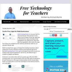 Twelve Free Apps for Math Instruction