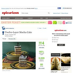 Twelve-Layer Mocha Cake Recipe at Epicurious
