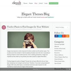 Twelve Places to Find Images for Your Website