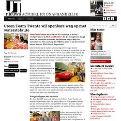 Green Team Twente wil openbare weg op met waterstofauto