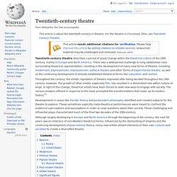 Twentieth-century theatre
