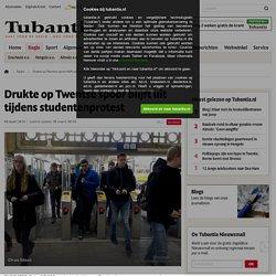 Drukte op Twentse spoor blijft uit tijdens studentenprotest