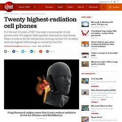 Cell phone radiation levels