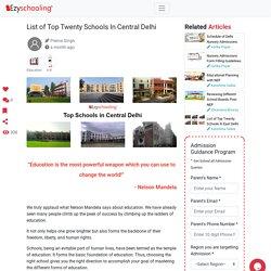 List of Top Twenty Schools In Central Delhi
