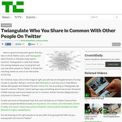 Twiangulate Who You Share In Common With Other People On Twitter