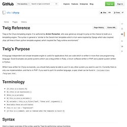 Twig Reference · vito/chyrp Wiki