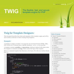 Twig for Template Designers