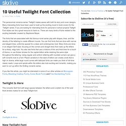 10 Useful Twilight Font Collection
