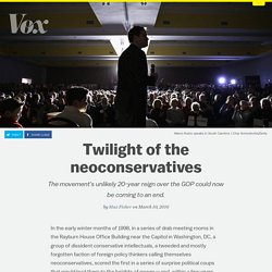 Twilight of the neoconservatives