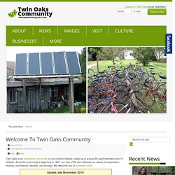 Twin Oaks Intentional Community Homepage