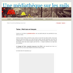 Twine : Petit tuto en français