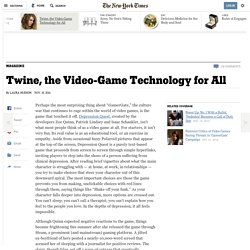 Twine, the Video-Game Technology for All - NYTimes.com