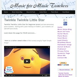 Twinkle Twinkle Little Star Free Sheet Music for Piano