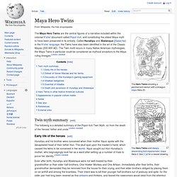 Maya Hero Twins
