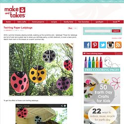 Twirling Paper Ladybugs