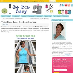 Twist Front Top - free t-shirt pattern