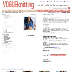 TWIST FRONT TOP Vogue Knitting Spring/Summer 2008 #33
