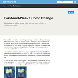 Twist-and-Weave Color Change