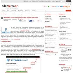 TwistedWave, práctica herramienta para editar audios de forma online