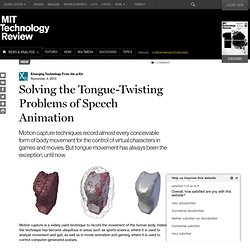 Solving the Tongue-Twisting Problems of Speech Animation