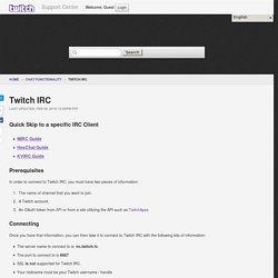Twitch IRC