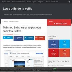 Twitcher. Switchez entre plusieurs comptes Twitter – Les outils de la veille