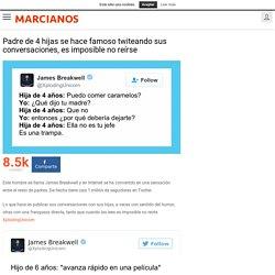 Padre de 4 hijas se hace famoso twiteando sus conversaciones, es imposible no reírse - Marcianos.com