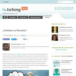 ¿ Twittear es filosofar?