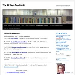 Twitter for Academics