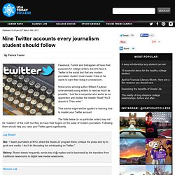 Nine Twitter accounts every journalism student should follow