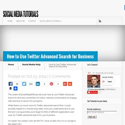 How to Use Twitter Advanced Search for Business -