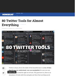 80 Twitter Tools for Almost Everything - Hongkiat
